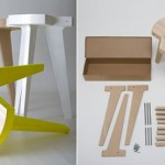 Offset Stool: A Stylish And Easy To Transport Furniture