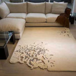The Top Floor Beautiful Ethereal Floral Pattern Rug by Esti Barnes
