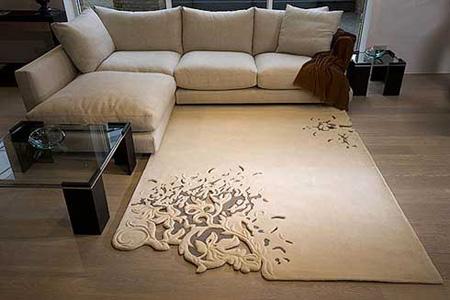 organic floral pattern rug