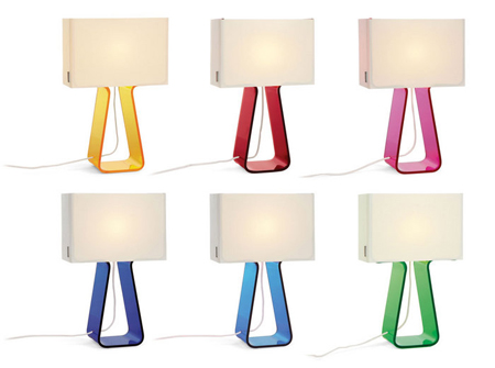 tube top colored small table lamps by peter stathis. Black Bedroom Furniture Sets. Home Design Ideas