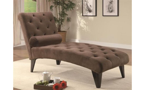 Sit Back And Relax Is Easily Done If You Have A Palmer Velour Chaise
