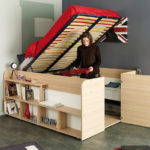 Parisot Space Up Bed and Storage with One-Hand Lift Mechanism