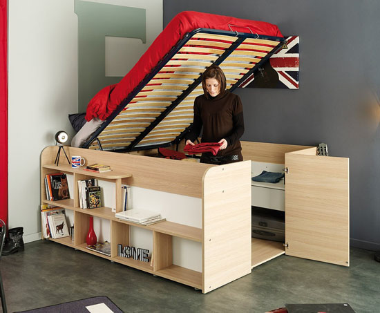 Parisot Space Up Bed and Storage for Small Space Flat or Apartment