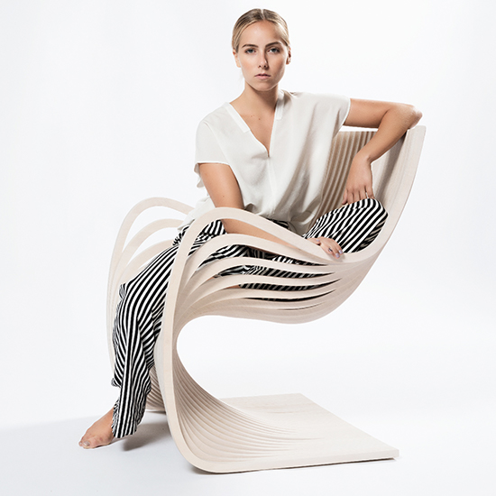 Piegatto Pipo Wooden Chair Features Unique, Artistic Form