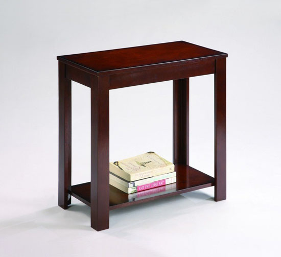 Pierce Espresso Chairside Table
