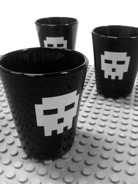 Pixel Skull Shot Glasses
