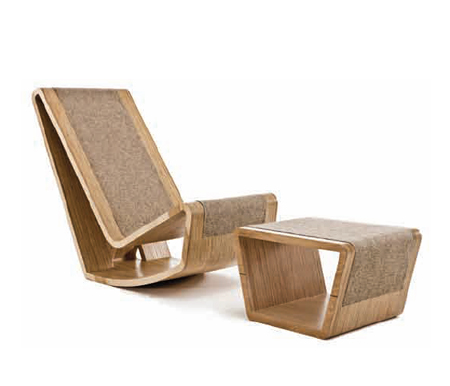 Ply Rocker And Footstool