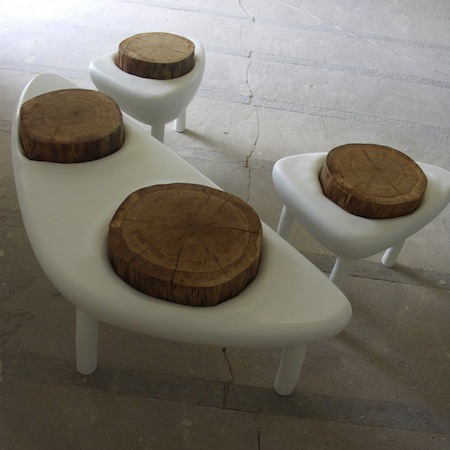 Polyester Bench and Stool