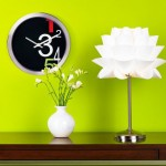 Possini Euro Design White Flower Acrylic Shade Table Lamp For A Warm And Stylish Illumination