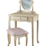 Powell Off-White Vanity And Bench Set Completes Your Bedroom Interior