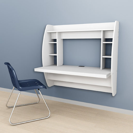 Prepac Floating Desk With Storage Keeps Your Workspace