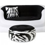 Comfort And Style Are What You Can Get With The Pure Comfort Zebra Love Seat And Ottoman