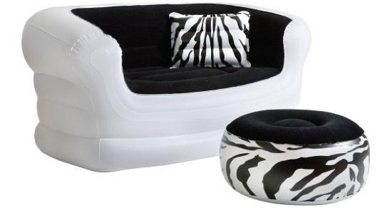 Pure Comfort Zebra Love Seat And Ottoman
