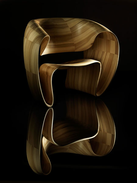 Get Amazed By Bent Wood Through The Ribbon Chair  Modern Home Decor
