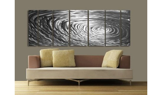 Ripple Effect Modern Abstract Metal Wall Art Painting Décor Sculpture