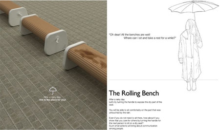 rolling bench design