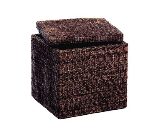 Sit and store with the rush cube storage ottoman from for Ottoman to sit on