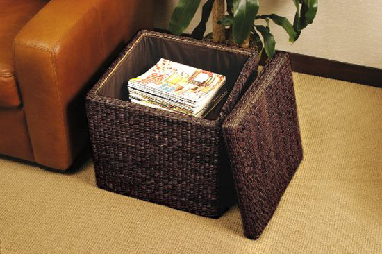 Sit And Store With The Rush Cube Storage Ottoman From Seville