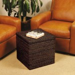 Sit And Store With The Rush Cube Storage Ottoman From Seville Classics