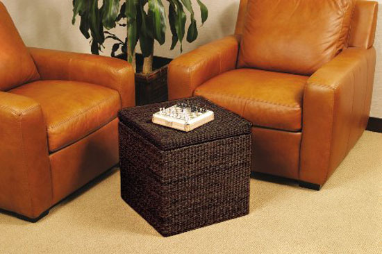 Rush Cube Storage Ottoman - Sit And Store With The Rush Cube Storage Ottoman From Seville