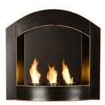 SEI Black Arch Top Wall Mount Gel Fuel Fireplace