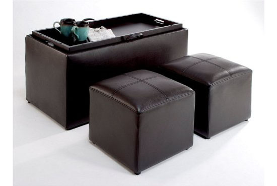 Sheridan Faux Leather Storage Bench