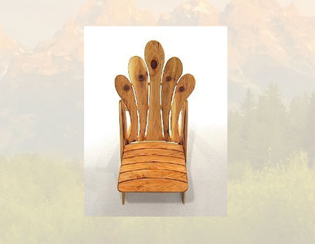 Singing Slat Sisters Chair