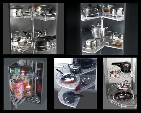 Achieve An Elegant Kitchen Design By Knowing The Sleek Modular Kitchen Accessories Modern Home