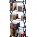 Keep Your Game CDs In Order With The Smoke Finished 5-Tier Media Rack