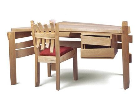 solid wood desk - Wood Desk Design