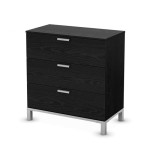 Modern, Minimalist South Shore Flexible Collection 3-Drawer Chest for Modern Interior Decor