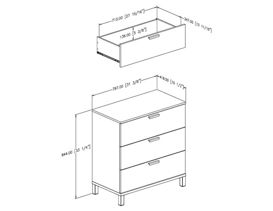 South Shore Flexible Collection 3-Drawer Chest