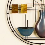 Decorate Your Home The Artistic Way By Insatalling A Southern Enterprises Metal And Capiz Vase Bowl Wall Art