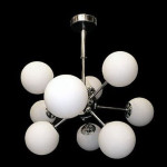 Sputnik Chrome 9-bulb Chandelier Atom Multi Light Fixture Brings Out The Science G