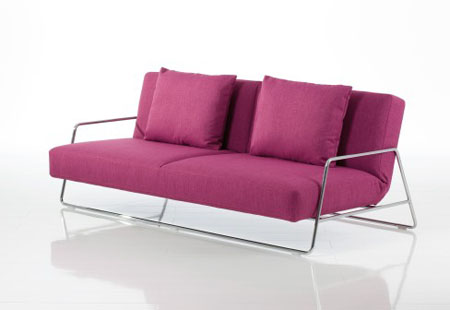 contemporary minimalist white leather sofa