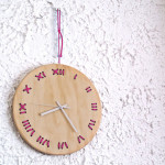 Stitched Wall Clock by ACT Studio