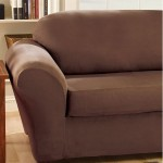 Seat Comfortably And In Style With Your Stretch Suede Separate Seat Loveseat Slipcover