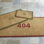 Suzane Kasler Bordered Initial Coir Mat: Welcoming Your Guests In Style