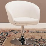 Offer An Elegant And Stylish Seating Solution To Your Guests With The Help Of Swivel Chair In White Bycast Leather-like Vinyl