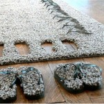 A Carpet With Slippers Attached Allows Users To Experience Japanese Practice