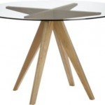 Teepee Dining Table: An Elegant Combination Of Wood And Glass