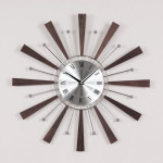 Telechron Spindle Clock in Espresso/Silver Is Well Crafted Replica to Decorate Your Wall