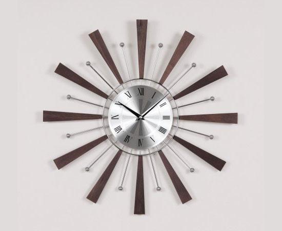 Telechron Spindle Clock - Espresso Silver