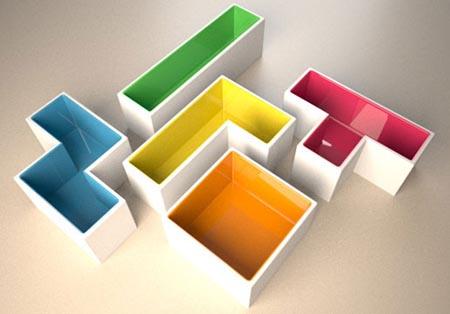 Tetris Pots Idea