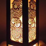 Bring Lovely Hooters Home With Thai Vintage Handmade Asian Oriental Handcraft Night Owl Bird Bedside Table Lights