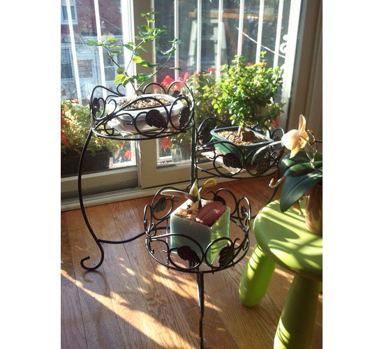 Three tiered folding and Ivy Plant Stand