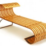 Have a Nice Twist in Your Living Room with Tobo Lounge Wooden Bench