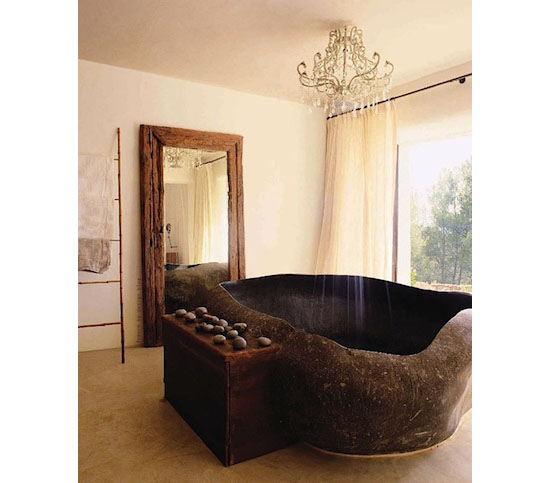 Sculpted Granite Bathtub - Top 10 unique bathtubs