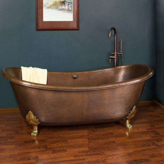 71-inch Hadley Copper Double-Slipper Tub - Top 10 unique bathtubs