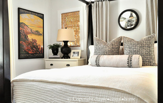 Bedroom Décor for The One Room Challenge by Mary Ann Pickett - Top 20 Black and White Décorating Ideas to Inspire You